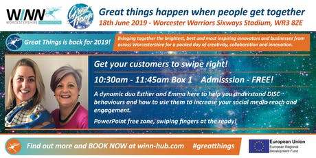 Get your customers to swipe right! Emma May White - Real World Coaching & Esther Partridge-Warner - Online Media Works tickets