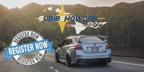 Subie Showoff 2019 tickets