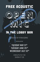 Free Acoustic Open Mic, Hosted by Ryan Burke