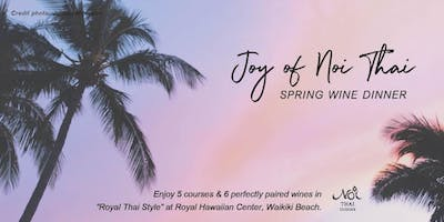 Joy of Noi Spring Wine Dinner