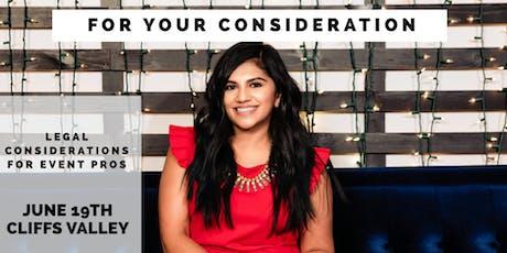 Appalachian NACE presents Yasha Patel - For Your Consideration tickets