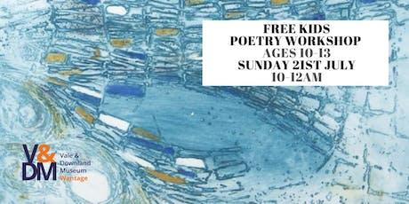 Kids Poetry Workshop tickets