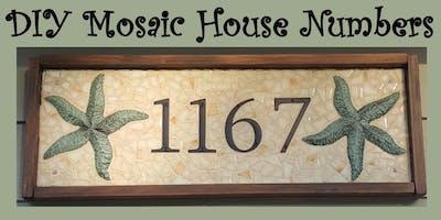 DIY Mosaic House Numbers