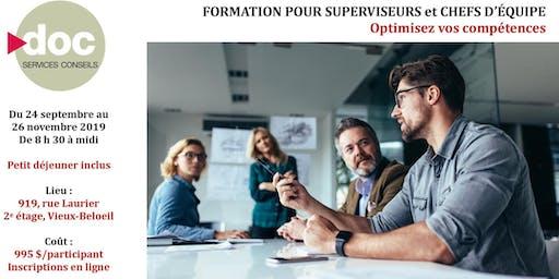 Optimisez vos compétences - Formation pour Superviseurs et Chefs d'équipe