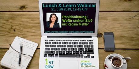"""Live-Webinar """"Positionierung: Wofür stehen Sie?"""" mit Regina Mehler Tickets"""