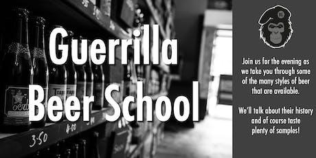 Guerrilla Beer School tickets