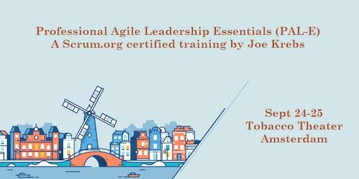 Professional Agile Leadership training (PAL-E)   Sept 24-25 in Amsterdam by Jochen Krebs