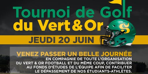 Tournoi de golf Vert et Or football 2019