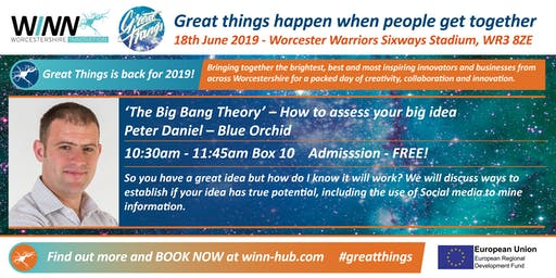'The Big Bang Theory' - How to assess your big idea? Peter Daniel - Blue Orchid