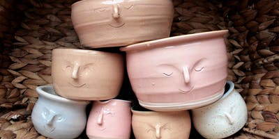 Open Access Evening Clay Session: Face Pots with Guest Tutor Lizzie Croucher