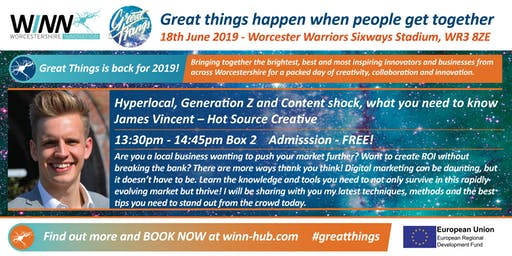 Hyperlocal, Generation Z and Content shock, what you need to know. James Vincent - Hot Source Creative