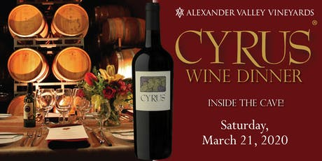 CYRUS Dinner in the Wine Cave 2020 tickets