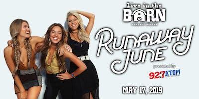 Live in the Barn: Runaway June (presented by 92.7 KTOM FM)