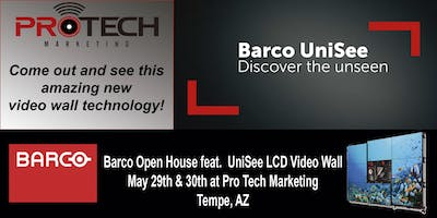 Barco Open House featuring the UniSee LCD Video Wall