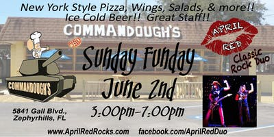April Red LIVE for Sunday Funday at Commandough's in Zephyrhills!