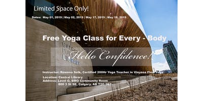 Free Yoga Class in Central Public Library, Calgary - May 18, 2019