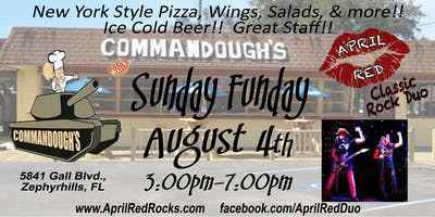 April Red Rockin' Sunday Funday at Commandough's in Zephyrhills!