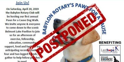 Babylon Rotary's Paws for a Cause Dog Walking Event
