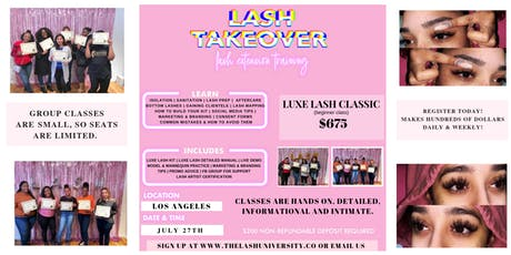 Mink Lash Training - CLASSIC Class - Hands On - Detailed tickets