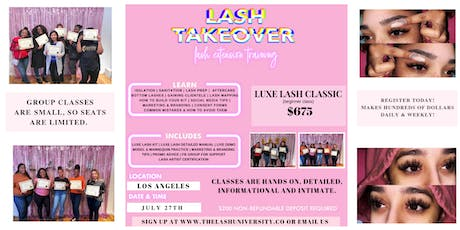 Classic Lash Training - DETAILED - Hands On tickets