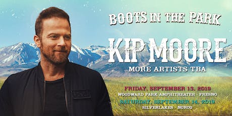 MERCH - BOOTS IN THE PARK - KIP MOORE tickets