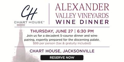 Chart House Alexander Valley Wine Dinner- Jacksonville, FL