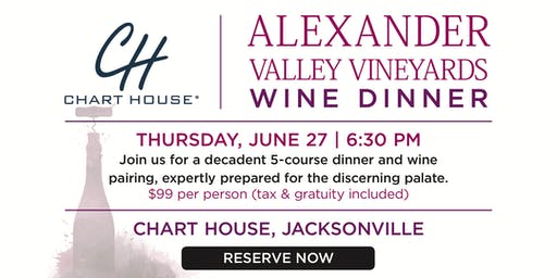 Chart House Alexander Valley Wine Dinner- Jacksonville, FL