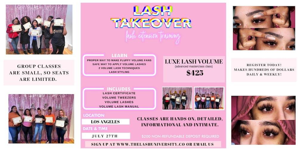 Volume Mink Lash Training - Hands On - Detailed Tickets, Sat