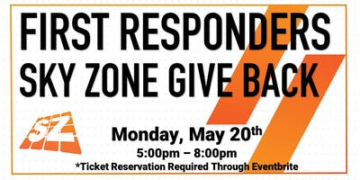 First Responders Give Back Sky Zone Fort Wayne 2019