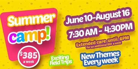 LIH Summer camp - Week 10 The Ocean World (3-5 years) tickets