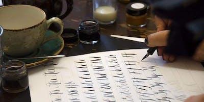 Modern Calligraphy Workshop at Stitch Studio