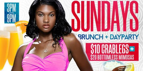 $10 CRABLEGS + $20 BOTTOMLESS MIMOSAS #SeafoodSundays at ENCORE LOUNGE tickets