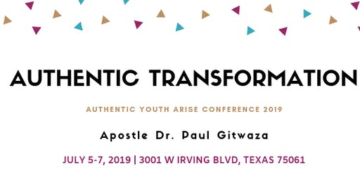 AUTHENTIC TRANSFORMATION conference in Dallas
