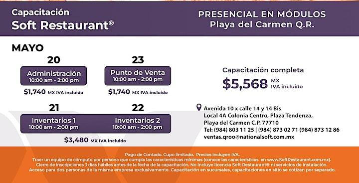 Imagen de Playa del Carmen: capacitación módulos Soft Restaurant®