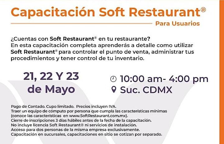 Imagen de CDMX: Capacitación  Soft Restaurant®