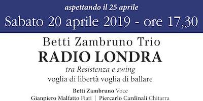 Ragio Londa - concerto spettacolo con il Betti Zambruno Trio al Librificio