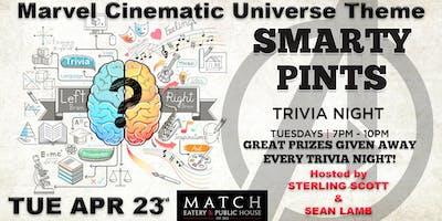 "Smarty Pints Trivia \""Marvel Cinematic Universe Theme\"" FREE!"