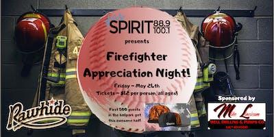 Spirit's Firefighter Appreciation Night