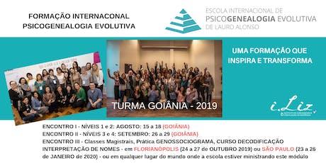 Psicogenealogia Evolutiva Instituto Liz | Goiânia bilhetes