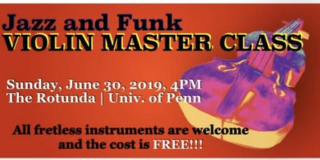 Jazz and Funk Violin Master Class tickets