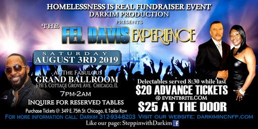 "Darkim's 14th Annual Homelessness Is Real Fundraising Event Featuring ""The Fel Davis Experience"""