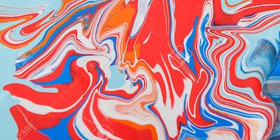 Project Autism - York Region - Marbling with Paint