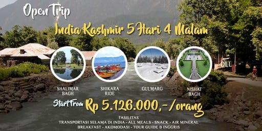 Open Trip India Kashmir 5 Hari 4 Malam