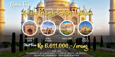 Open Trip India Golden Triangle 5 Hari 4 Malam tickets