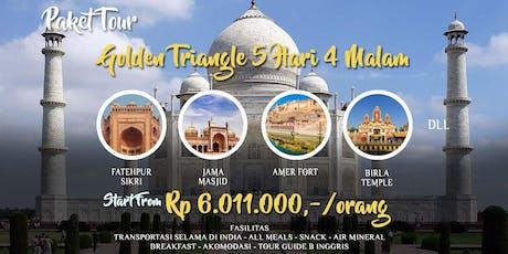 Paket Tour India Golden Triangle 5 Hari 4 Malam tickets
