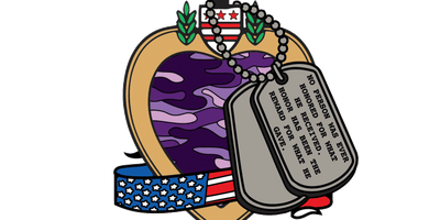 2019 Purple Heart Day 1 Mile, 5K, 10K, 13.1, 26.2 -Raleigh