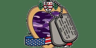 2019 Purple Heart Day 1 Mile, 5K, 10K, 13.1, 26.2 -Alexandria