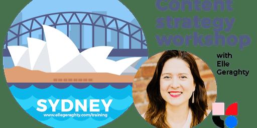 Content strategy in practice - Sydney - Nov 2019 - Training workshop