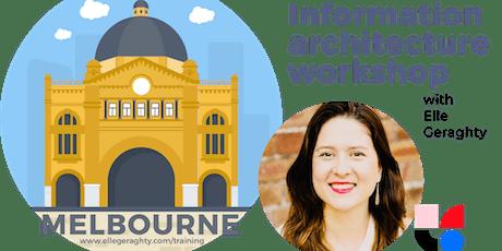 Information architecture in practice - Melbs - Oct 2019 - Training workshop tickets