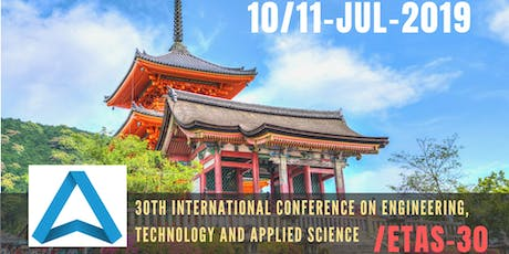30th International Conference on Engineering, Technology and Applied Science (ETAS-30) tickets
